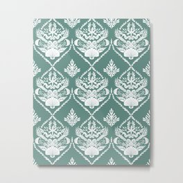 Neptune's joy reed damask Metal Print