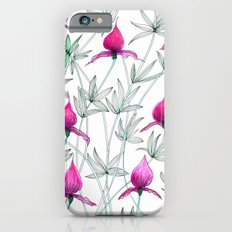 small purple flowers iPhone 6s Slim Case