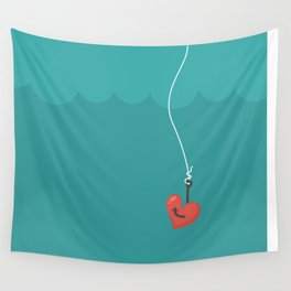Fishing=Love Wall Tapestry