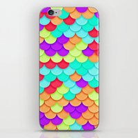 scales iPhone & iPod Skins featuring Scales by White Wolf Wizard