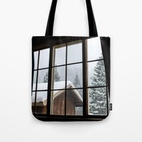 cabin pressure Tote Bags featuring Cabin by JacDodge