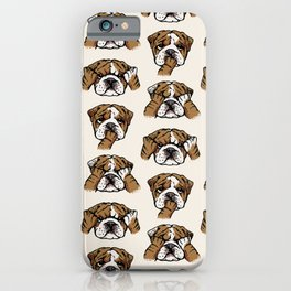 No Evil English Bulldog iPhone Case