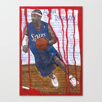 nba Canvas Prints featuring NBA PLAYERS - Allen Iverson by Ibbanez