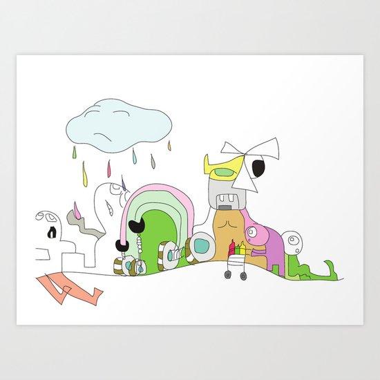 Funland 1 Art Print