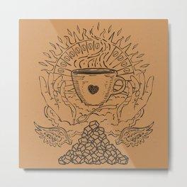 Saint Coffee Metal Print