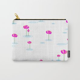 Water Lilies in Pink Carry-All Pouch