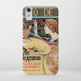 Vintage Art Nouveau expo Barcelona 1896 iPhone Case