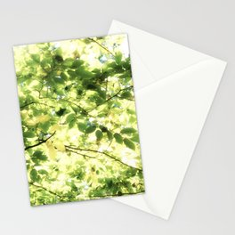 Bright Day-green leaves Stationery Cards