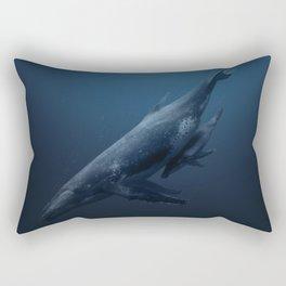 Whales family Rectangular Pillow