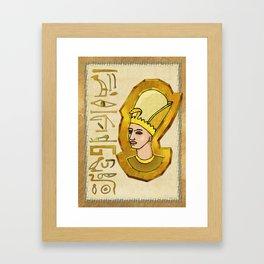 Pharaoh Hieroglyphics Egyptian Folk Art Framed Art Print