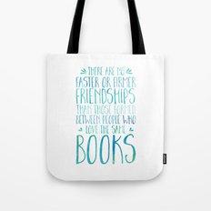 Bookish Friendship - Blue Tote Bag