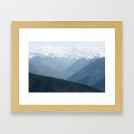 Olympic Mountains Framed Art Print
