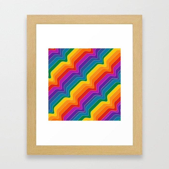 Rainbow Wave Framed Art Print