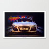 audi Canvas Prints featuring Audi R8 GT by Urbex :: Siam