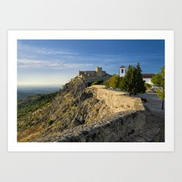 Marvao in the evening Art Print