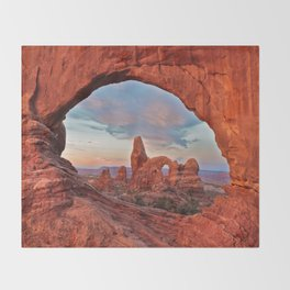 Arches National Park - Turret Arch Throw Blanket