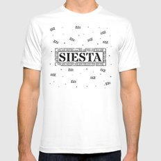 SIESTA nº 2 White MEDIUM Mens Fitted Tee