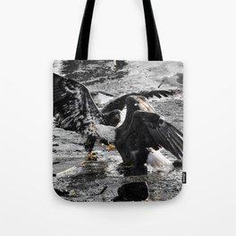 Battling Eagles Tote Bag