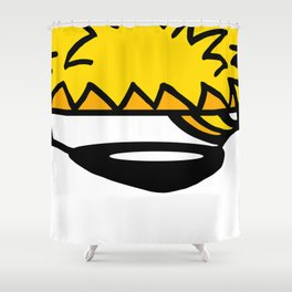 Yellow Bear Shower Curtain