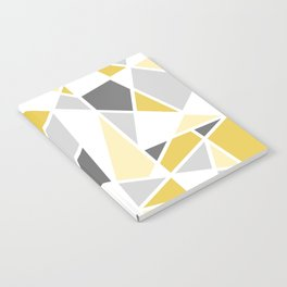 Geometric Pattern in yellow and gray Notebook