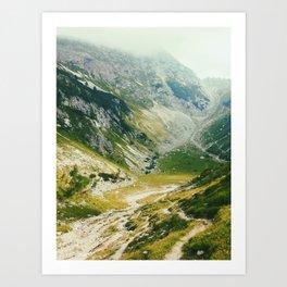 Light in green mountains Art Print