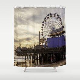 Santa Monica Pier Fun Shower Curtain