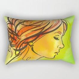 Vermilion Rectangular Pillow