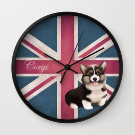 Royal Corgi Baby Wall Clock