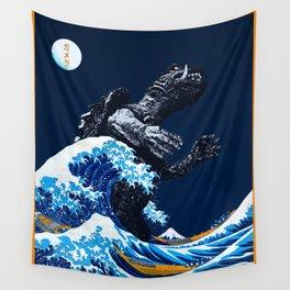 The Great Gamera Wave Off of Kanagawa Wall Tapestry