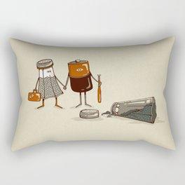 Assault and Battery Love Story. Rectangular Pillow