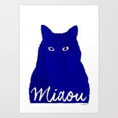 MIAOU bleu Art Print
