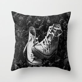 Abandoned Converse Throw Pillow