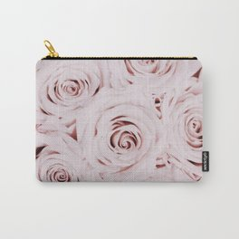 Flowers, Roses, Neutral, Minimal, Modern, Wall art Carry-All Pouch