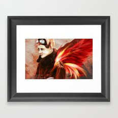 Upon Red Wings Framed Art Print