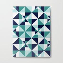 Geometric pattern of squares I Metal Print