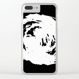Whorl Black and White Clear iPhone Case