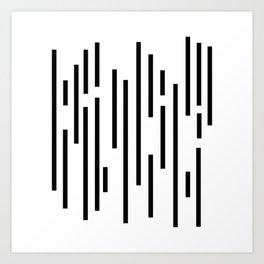 Minimal Lines - Black Art Print