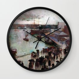 Charles Conder Departure of the Orient Circular Quay Wall Clock