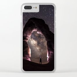 Delicate Nights Clear iPhone Case