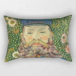 Portrait of the Postman Joseph Roulin by Vincent van Gogh Rectangular Pillow