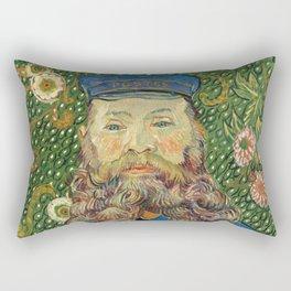 Portrait of the Postman Joseph Roulin by Vincent van Gogh Rectangular Pillow