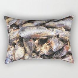 texture of mussels Rectangular Pillow