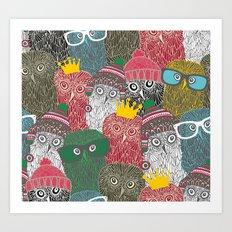 The crowd. Art Print