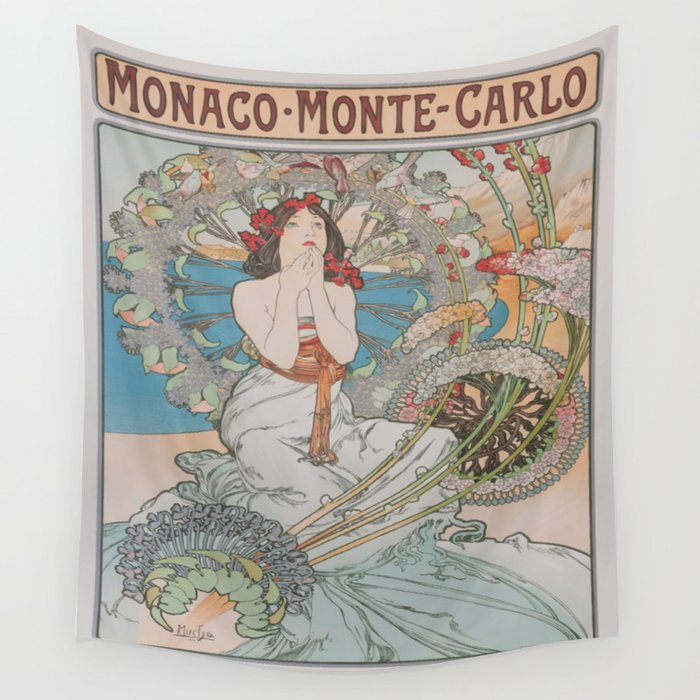 Vintage poster - Monte Carlo Wall Tapestry
