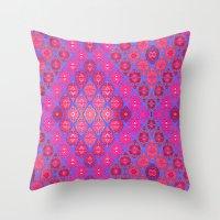 kilim Throw Pillows featuring Kilim 4 by EllaJo Design