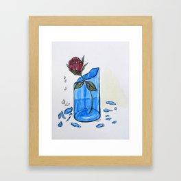 Broke Promise Rose Framed Art Print