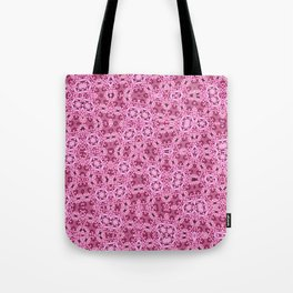 Pink Flower Quilt Ribbon Tote Bag