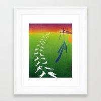 league Framed Art Prints featuring Cactus League by Peter Chen