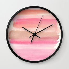 Peach and Cream Wall Clock