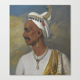 Portrait of Nana Fadnavis by John Thomas Seton Canvas Print